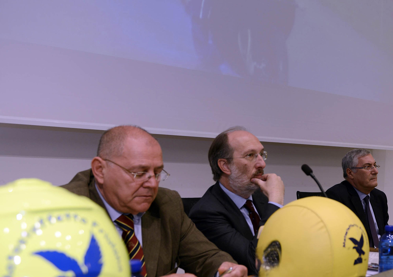 Riccardo Riccardi (Assessore regionale Infrastrutture, Mobilità, Pianificazione territoriale e Lavori pubblici) al 5° Meeting Motostaffetta del Friuli Venezia Giulia. (Udine 19/05/12)