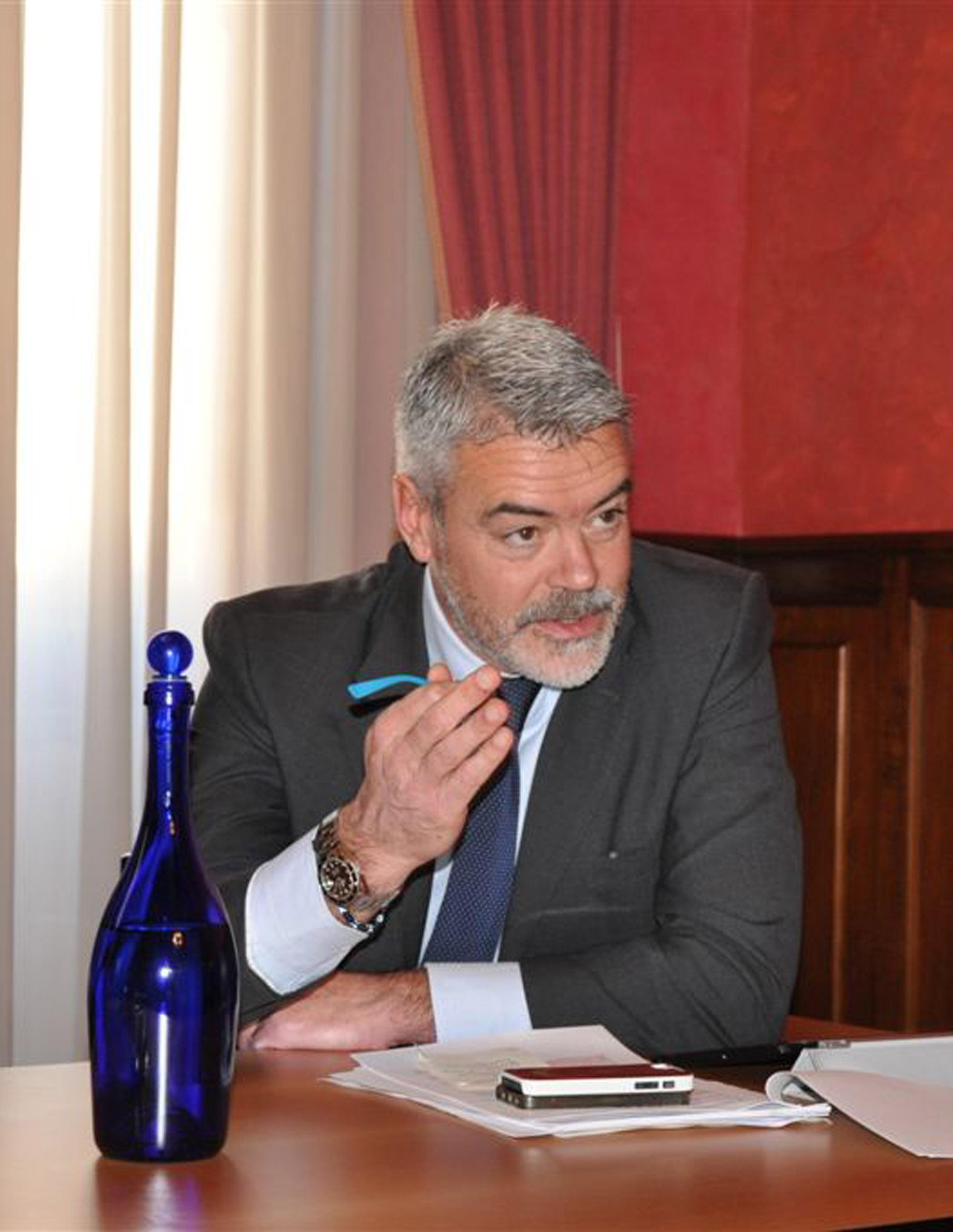 """Paolo Panontin (Assessore regionale Funzione pubblica) alla presentazione del Progetto di Open Government """"Go-On-Italia"""", nella sede di rappresentanza della Regione FVG - Roma 11/12/2013"""