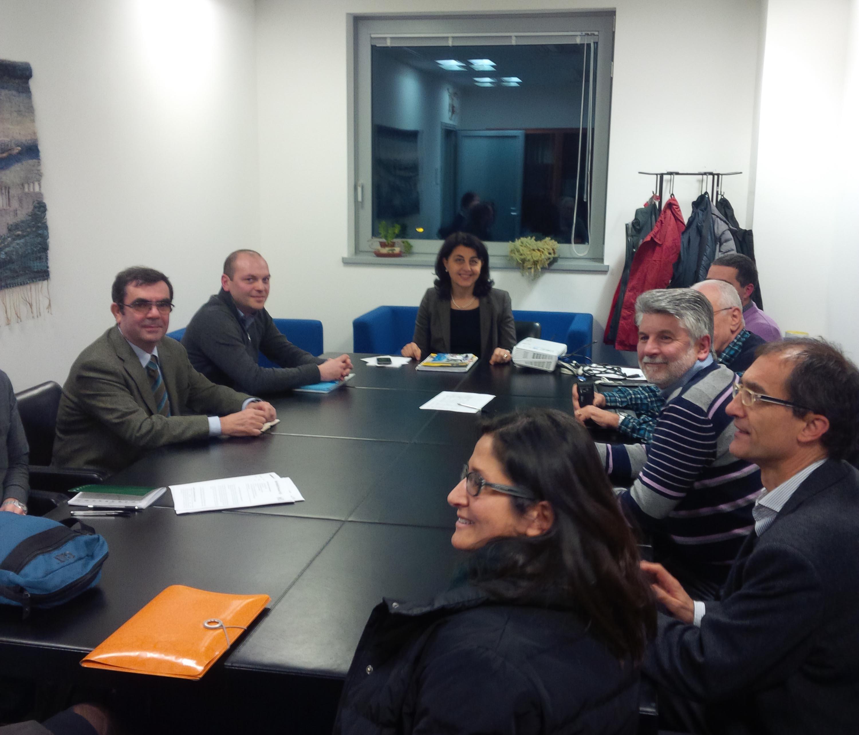 Mariagrazia Santoro (Assessore regionale Infrastrutture e Mobilità) con rappresentanti di associazioni aderenti FIAB e ambientaliste - Udine 13/01/2014