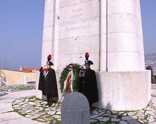 """Le cerimonie per la """"Giornata dell'Unità nazionale, della Costituzione, dell'inno e della bandiera"""", sul Colle di San Giusto - Trieste 17/03/2014"""