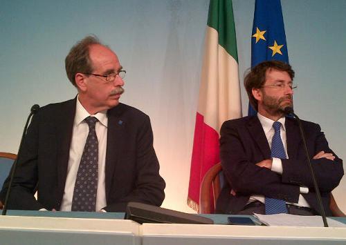 Gianni Torrenti (Assessore regionale Cultura) e Dario Franceschini (Ministro Beni e Attività culturali e Turismo) - Roma 23/06/2014