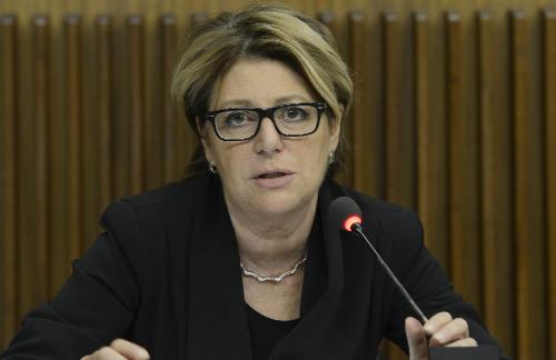 Maria Sandra Telesca (Assessore regionale Salute, Integrazione socio-sanitaria, Politiche sociali e Famiglia) in una foto d'archivio