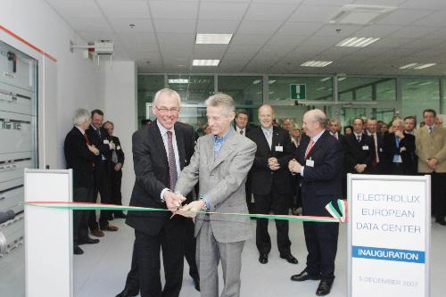 Riccardo Illy (Presidente Regione Friuli Venezia Giulia) all'inaugurazione del Data Center europeo di Electrolux, a Pordenone. (Pordenone 05/12/07)