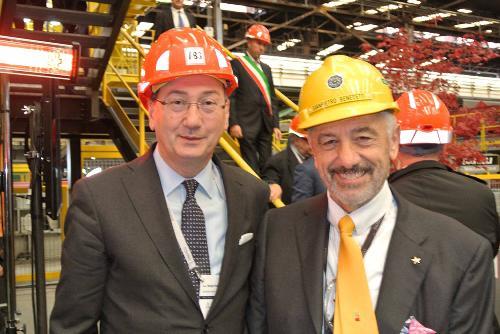 Sergio Bolzonello (Vicepresidente Regione FVG e assessore Attività produttive) e Gianpietro Benedetti (Presidente Gruppo Danieli) - Cargnacco 17/10/2015