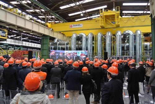 Inaugurazione della Rotoforgia nello stabilimento delle Acciaierie Bertoli Safau (ABS) del Gruppo Danieli - Cargnacco 17/10/2015