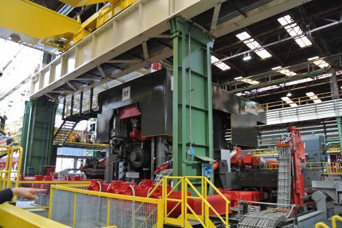 La Rotoforgia inaugurata oggi nello stabilimento delle Acciaierie Bertoli Safau (ABS) del Gruppo Danieli - Cargnacco 17/10/2015
