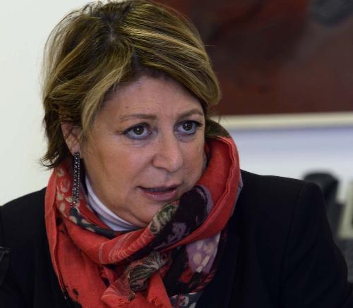 Maria Sandra Telesca (Assessore regionale Salute, Integrazione socio-sanitaria, Politiche sociali e Famiglia) durante la riunione della Giunta del FVG - Udine 22/01/2016