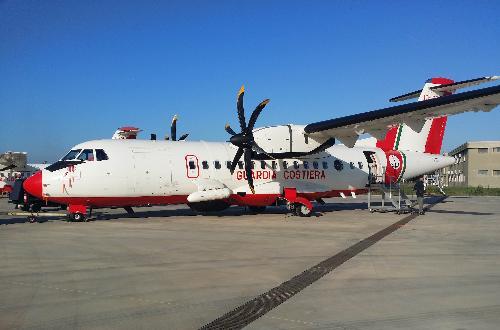 Aereo ETR42 in dotazione alla Guardia Costiera - Base aerea di Pescara-Fontanelle 12/02/2015