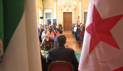 """Forum """"I processi democratici in Tunisia e le prospettive di cooperazione e sviluppo nel bacino Mediterraneo"""" nel Salone di Rappresentanza del Palazzo della Regione FVG - Trieste 09/04/2016"""