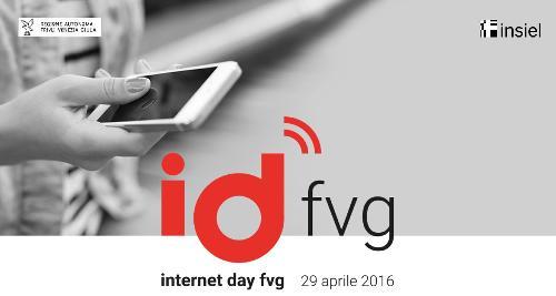 """Logo dell'evento """"internet day fvg / id fvg"""" presentato a Trieste il 12 aprile 2016"""
