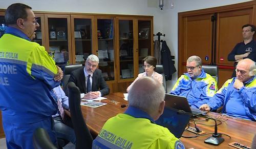 Paolo Panontin (Assessore regionale Protezione civile) alla presentazione del diploma a carattere temporaneo denominato Orcolat istituito dal Comitato regionale A.R.I. FVG, a 40 anni dal terremoto del Friuli, nella sede della Protezione civile - Palmanova 14/04/2016
