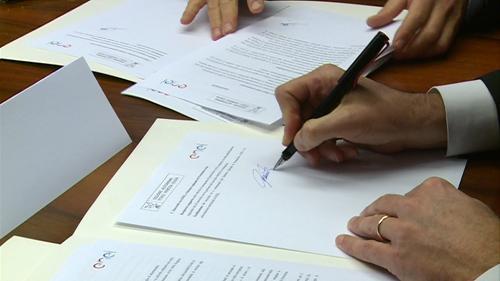 Firma del Protocollo tra la Protezione civile della Regione e l'ENEL S.p.A. - Palmanova 19/04/2016
