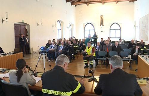 Firma dell'Accordo per l'istituzione della Scuola internazionale di formazione per la gestione della risposta in emergenza sismica / SERM Academy a Portis Vecchio - Venzone 07/05/2016