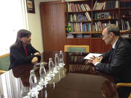 Debora Serracchiani (Presidente Regione Friuli Venezia Giulia) e Paolo Trichilo (Ambasciatore d'Italia a Lubiana) - Nova Gorica (SLO) 10/05/2016