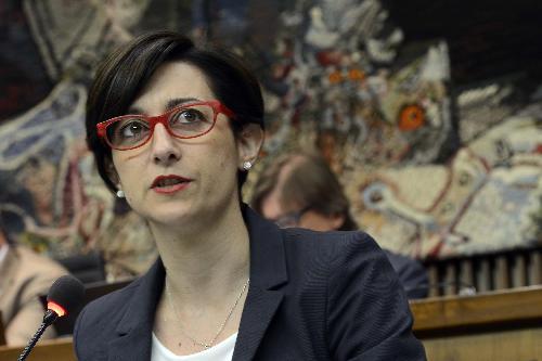 Sara Vito (Assessore regionale Ambiente ed Energia) nell'Aula del Consiglio regionale - Trieste 07/07/2016