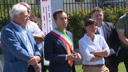 Debora Serracchiani (Presidente Friuli Venezia Giulia) e Luca Fanotto (Sindaco di Lignano) – Lignano Sabbiadoro 12/08/2016