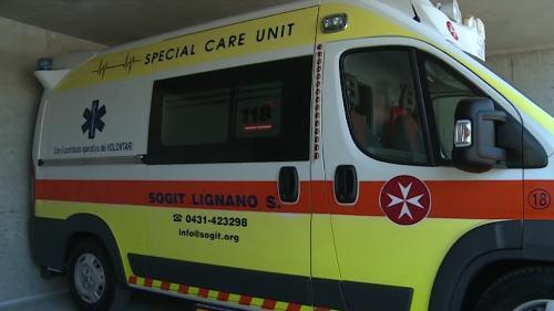 Ambulanza del punto di primo soccorso di Lignano Sabbiadoro - Lignano Sabbiadoro 12/08/2016