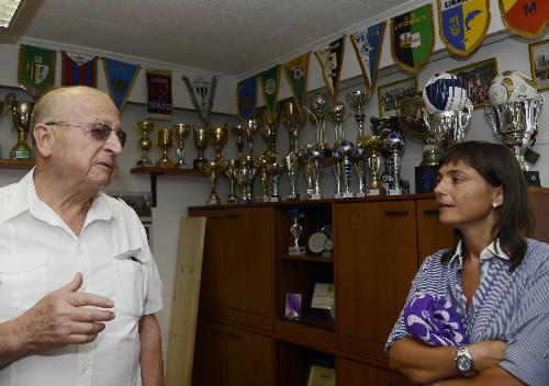 Luigi Giani (Presidente Associazione Sportiva Zaule Rabuiese) e Debora Serracchiani (Presidente Regione Friuli Venezia Giulia) - Muggia (TS) 23/08/2016
