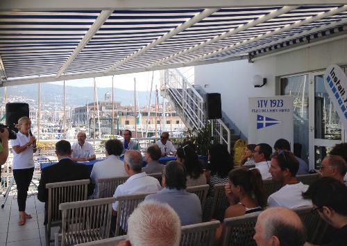 """Marina Simoni (Presidente Comitato XIII Zona - FVG Federazione Italiana Vela / FIV) alla presentazione del """"Trofeo Cral Insiel 2016"""", nella sede della Società Triestina della Vela - Trieste 29/08/2016"""