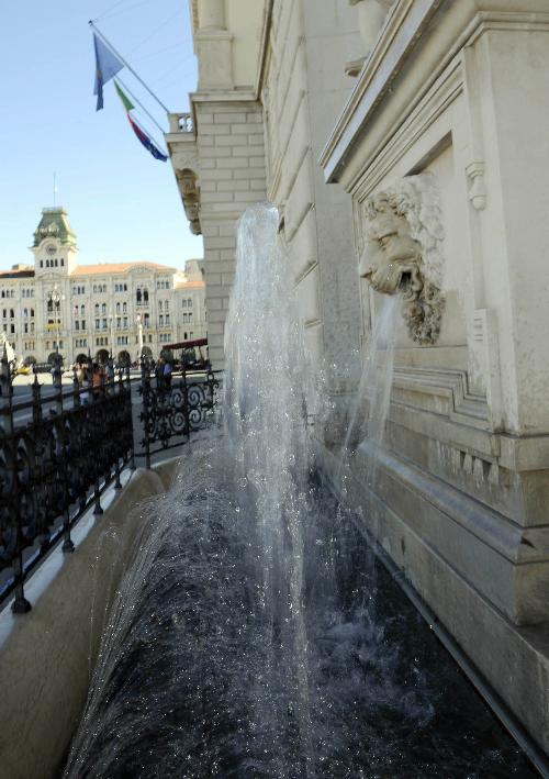 Fontana del Palazzo della Regione Friuli Venezia Giulia in piazza Unità d'Italia - Trieste 05/09/2016