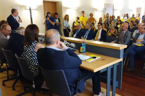 Sergio Bolzonello (Vicepresidente Regione FVG e assessore Attività produttive, Turismo e Cooperazione) interviene alla presentazione della XVII edizione di Pordenonelegge - Pordenone 07/09/2016