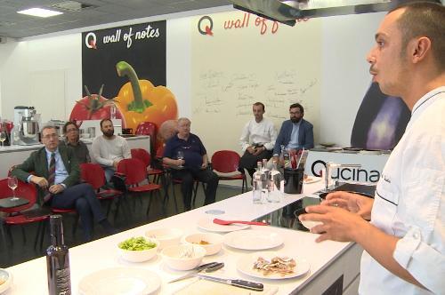 """La presentazione delle iniziative di ERSA e PromoTurismo FVG per """"Il Salone del Gusto"""" di Torino, alla Scuola di Cucina Qucinando - Pordenone 20/09/2016"""