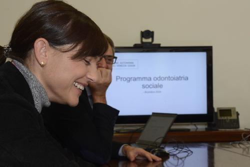 Debora Serracchiani (Presidente Regione Friuli Venezia Giulia) alla presentazione del Programma di Odontoiatria sociale - Trieste 01/12/2016