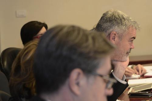 Paolo Panontin (Assessore regionale Autonomie locali e Coordinamento Riforme, Comparto unico, Sistemi informativi, Caccia e Risorse ittiche, delegato Protezione civile) durante la riunione della Giunta regionale del FVG - Trieste 23/12/2016