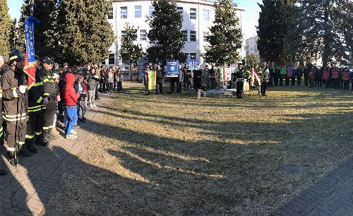 Celebrazione del Giorno della Memoria in piazza Maestri del Lavoro - Pordenone 27/01/2017