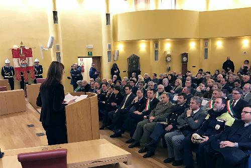 Celebrazione del Giorno della Memoria nella Sala consiliare dell'ex Provincia - Pordenone 27/01/2017