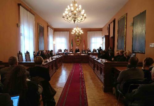 """Sottoscrizione della dichiarazione d'intenti per il """"contratto di fiume"""" del Natisone, nella Sala consiliare del Municipio - Cividale del Friuli 06/02/2017"""