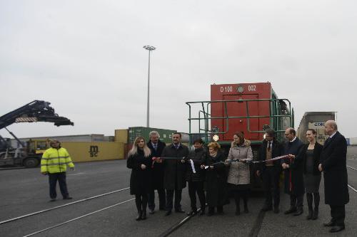 Inaugurazione del nuovo esercizio intermodale dal Porto di Trieste sulla direttrice Kiel-Göteborg, al Terminal EMT (Europa Multipurpose Terminals) - Trieste 22/02/2017