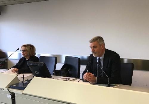 Laura Fasiolo (Senatrice) e Paolo Panontin (Assessore regionale Caccia e Risorse ittiche) incontrano operatori della pesca e dell'acquacoltura, nella sede della Protezione civile del FVG - Palmanova 27/02/2017