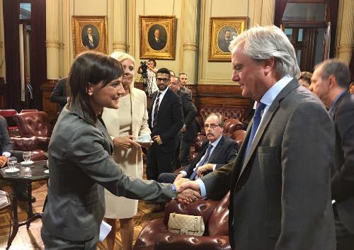 Debora Serracchiani (Presidente Regione Friuli Venezia Giulia) e Federico Pinedo (Presidente Senato Repubblica Argentina) - Buenos Aires 07/03/2017