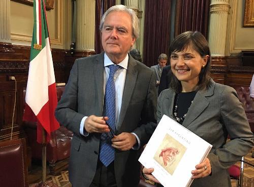 Federico Pinedo (Presidente Senato Repubblica Argentina) e Debora Serracchiani (Presidente Regione Friuli Venezia Giulia) - Buenos Aires 07/03/2017