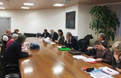 Mariagrazia Santoro (Assessore regionale Infrastrutture e Territorio) al Tavolo di confronto con le organizzazioni sindacali (CGIL, CISL e UIL) sul tema dei nuovi canoni per gli alloggi di edilizia popolare - Udine 08/03/2017