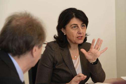 Mariagrazia Santoro (Assessore regionale Infrastrutture e Territorio) durante la riunione della Giunta del FVG - Trieste 17/03/2017