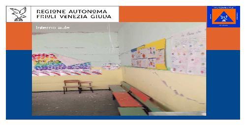 Scuola dell'infanzia Benedetto Costa di Sarnano (MC), inagibile dopo il terremoto dell'Italia Centrale e oggetto di demolizione e ricostruzione a cura della Protezione civile del Friuli Venezia Giulia