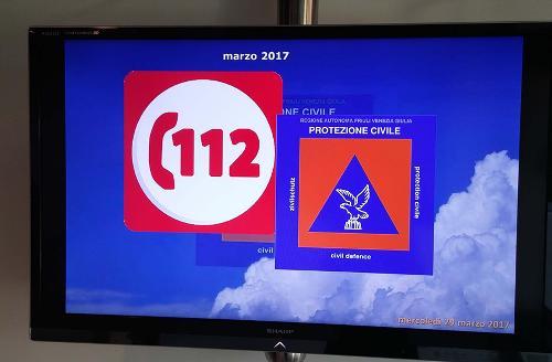 Postazione del Numero Unico per le Emergenze (NUE) 112, nella Centrale operativa della Protezione civile del FVG - Palmanova 29/03/2017