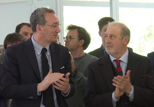 Sergio Bolzonello (Vicepresidente Regione FVG e assessore Attività produttive, Turismo e Cooperazione) allo stabilimento termale - Arta Terme 13/04/2017