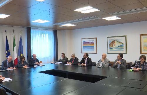 Debora Serracchiani (Presidente Regione Friuli Venezia Giulia) all'incontro con l'Ufficio di presidenza dell'UTI Friuli Centrale - Udine 13/04/2017