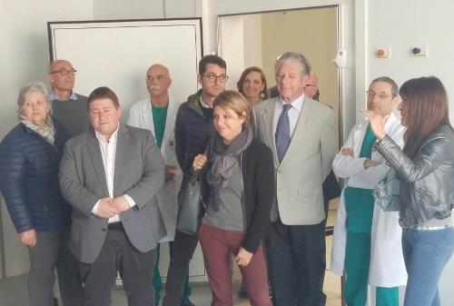 Maria Sandra Telesca (Assessore regionale Salute, Integrazione socio-sanitaria, Politiche sociali e Famiglia) in sopralluogo al cantiere dell'Ospedale - Latisana 21/04/2017