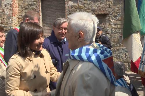Debora Serracchiani (Presidente Regione Friuli Venezia Giulia) alla cerimonia del settantaduesimo anniversario della Liberazione, alla Risiera di San Sabba - Trieste 25/04/2017
