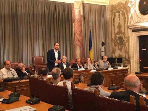 """Cristiano Shaurli (Assessore regionale Risorse agricole e forestali) alla presentazione del libro """"Storia della Vite e del Vino in Friuli e a Trieste"""" - Udine 22/06/2017"""