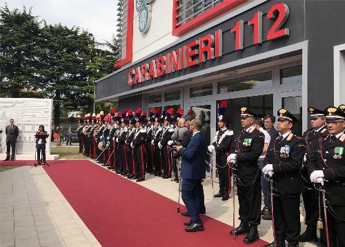 Debora Serracchiani (Presidente Regione Friuli Venezia Giulia) alla cerimonia di inaugurazione del nuovo Comando provinciale dei Carabinieri - Pordenone 23/06/2017