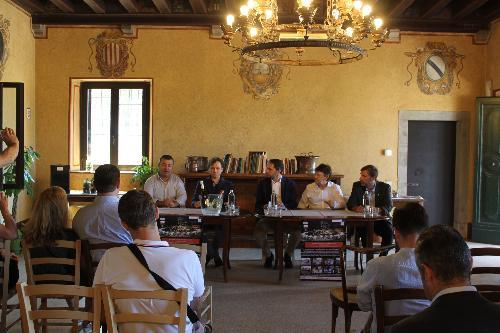 Cristiano Shaurli (Assessore regionale Risorse agricole e forestali) alla presentazione di Perlage - Udine 26/06/2017