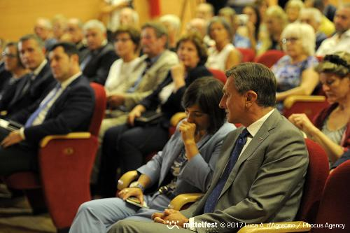 Debora Serracchiani (Presidente Regione Friuli Venezia Giulia) e Borut Pahor (Presidente Repubblica di Slovenia) all'inaugurazione di Mittelfest - Cividale del Friuli 15/07/2017 (Foto Luca A. d'Agostino e Lorenzo Scaldaferro /Phocus Agency © 2017)