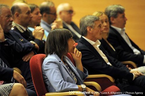 Debora Serracchiani (Presidente Regione Friuli Venezia Giulia) all'inaugurazione di Mittelfest - Cividale del Friuli 15/07/2017 (Foto Luca A. d'Agostino e Lorenzo Scaldaferro /Phocus Agency © 2017)