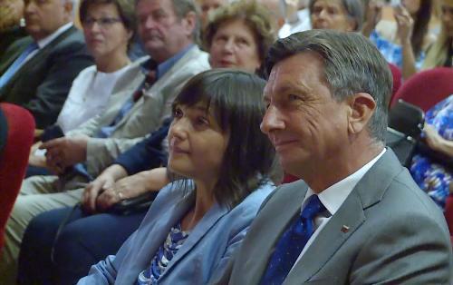 Debora Serracchiani (Presidente Regione Friuli Venezia Giulia) e Borut Pahor (Presidente Repubblica di Slovenia) all'inaugurazione di Mittelfest - Cividale del Friuli 15/07/2017