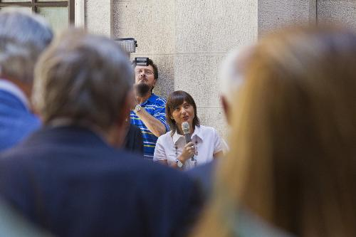 Debora Serracchiani (Presidente Regione Friuli Venezia Giulia) all'inaugurazione della sede ristrutturata della Regione FVG in via Carducci 6 - Trieste 19/07/2017